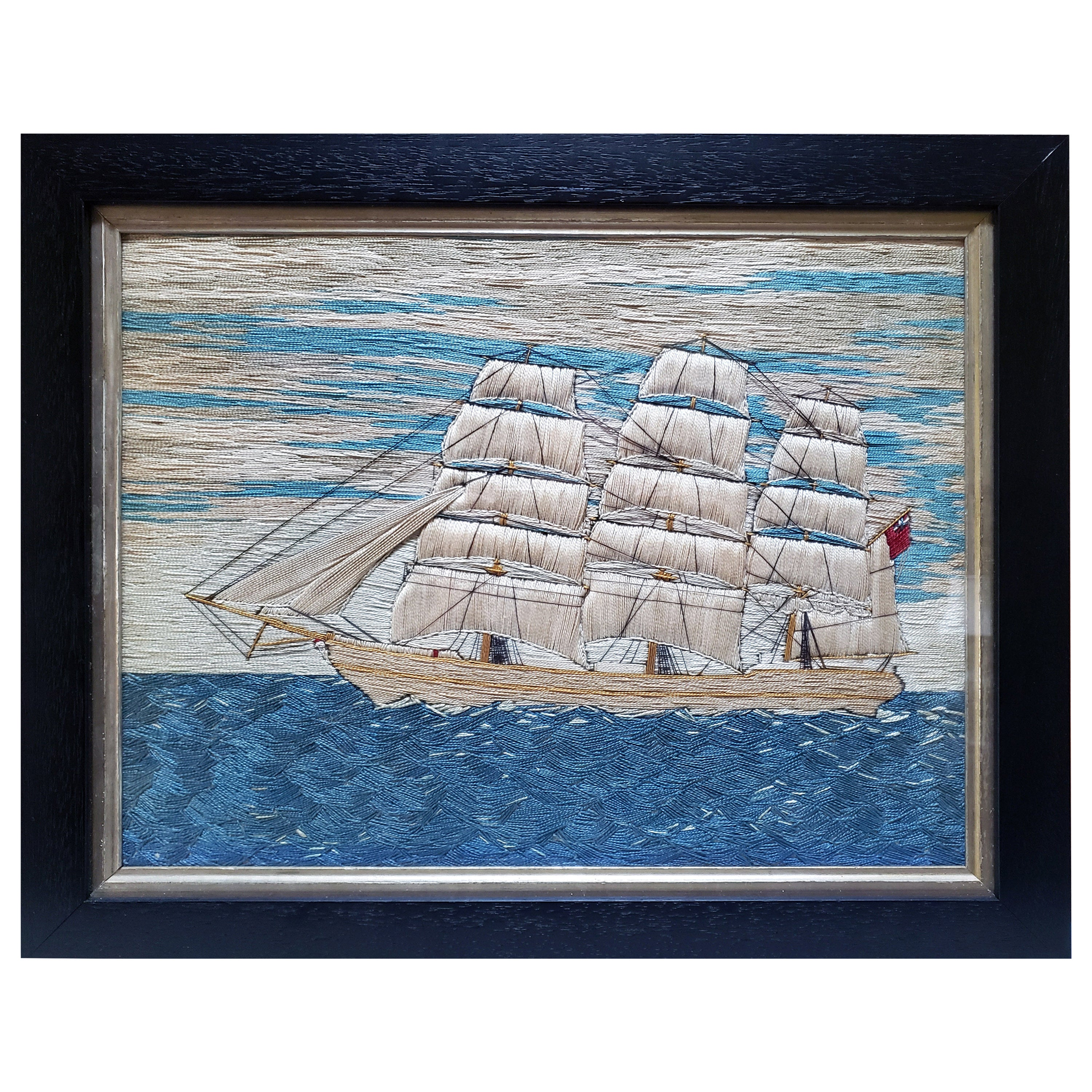 """British Sailor's """"Woolwork"""" But Made of Pearled Cotton of a Merchant Navy Ship"""