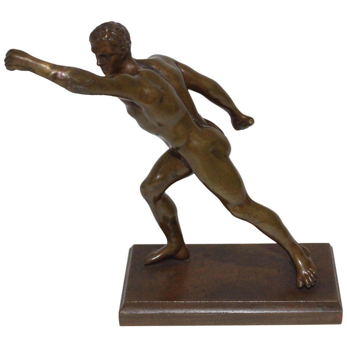 Bronze Borghese Gladiator Sculpture