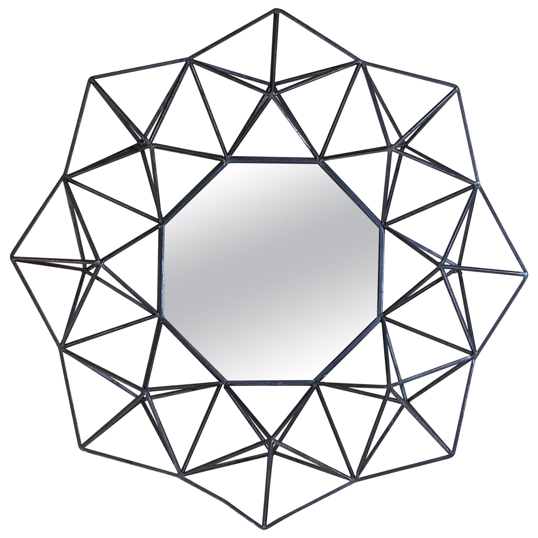 Geometric Metal Wall Hanging Mirror