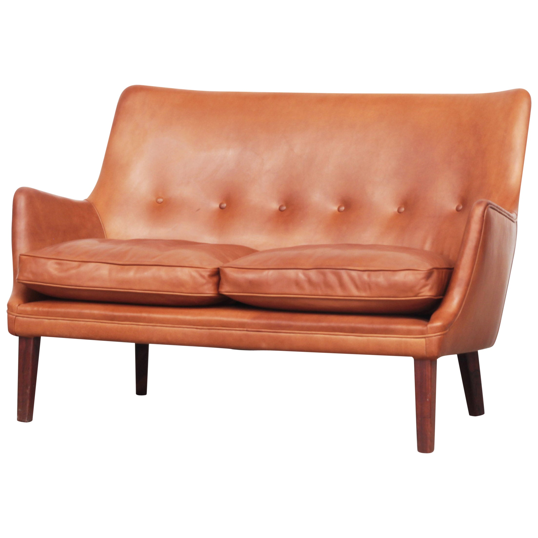 Rare Sofa by Arne Vodder for Ivan Schlechter Denmark, 1953