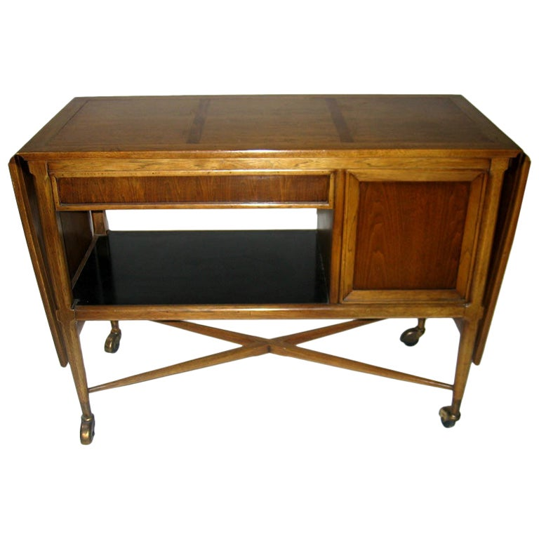 1960s Danish Moderne Bar Cart