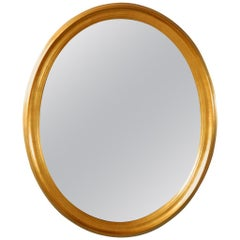 Oval Gilt Mirror by Labarge
