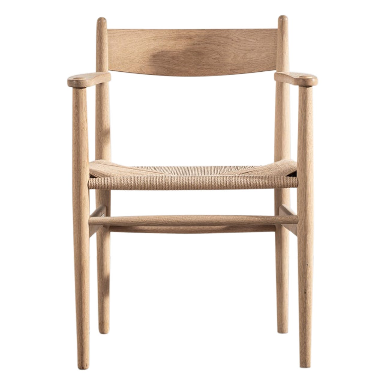 CH37 Chair in Oak with Natural Paper Cord by Hans Wegner