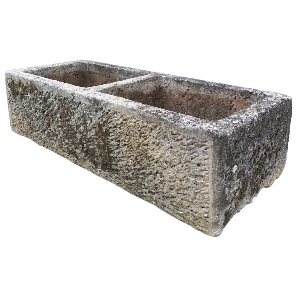 Hand Carved Stone Container Fountain Basin Trough Sink Antiques LA CA