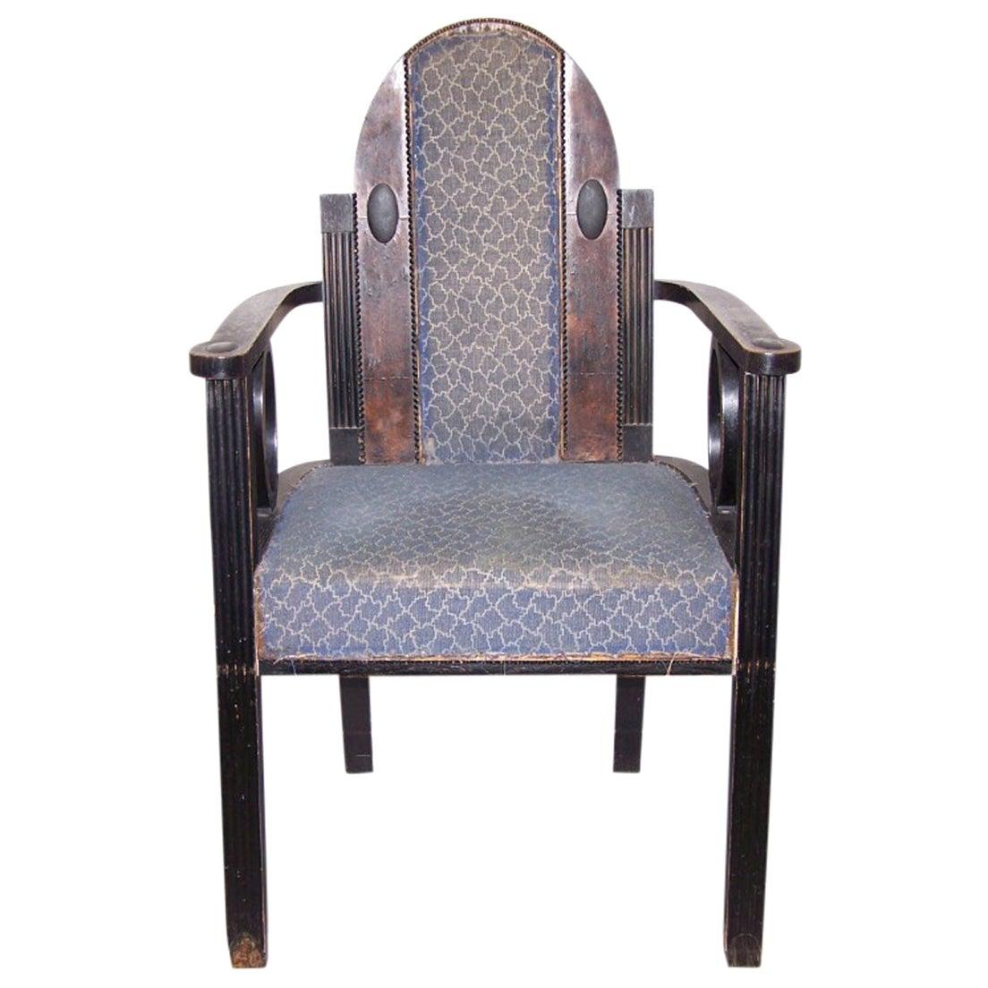Viennese Chair 1905 Jugendstil, Secession Style 1905 / Original