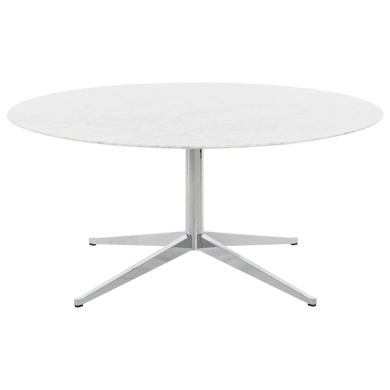 Florence Knoll Custom Round Carrara Marble Dining Table or Desk