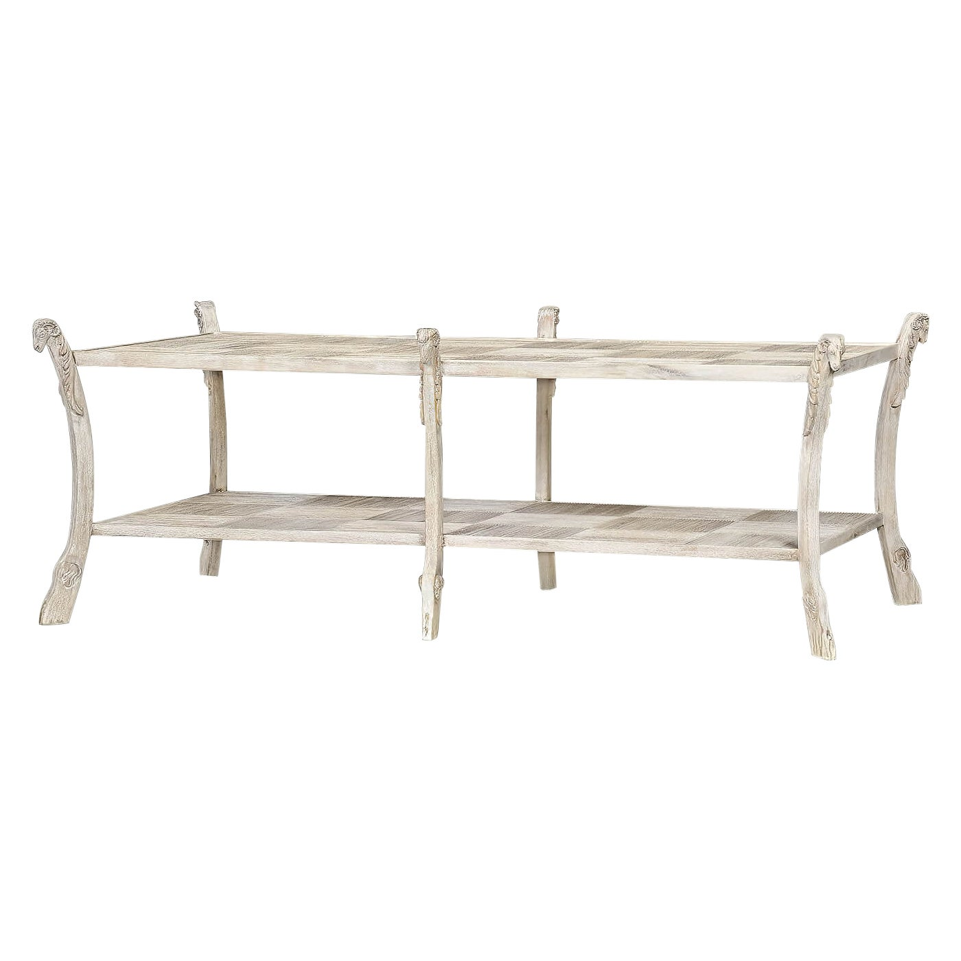 Country White Coffee Table