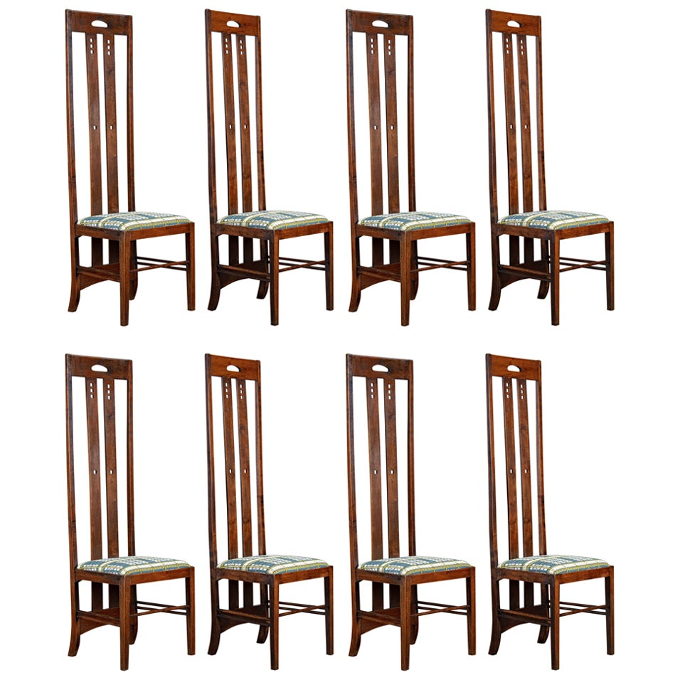 Charles Rennie Mackintosh Set of 8 Chairs