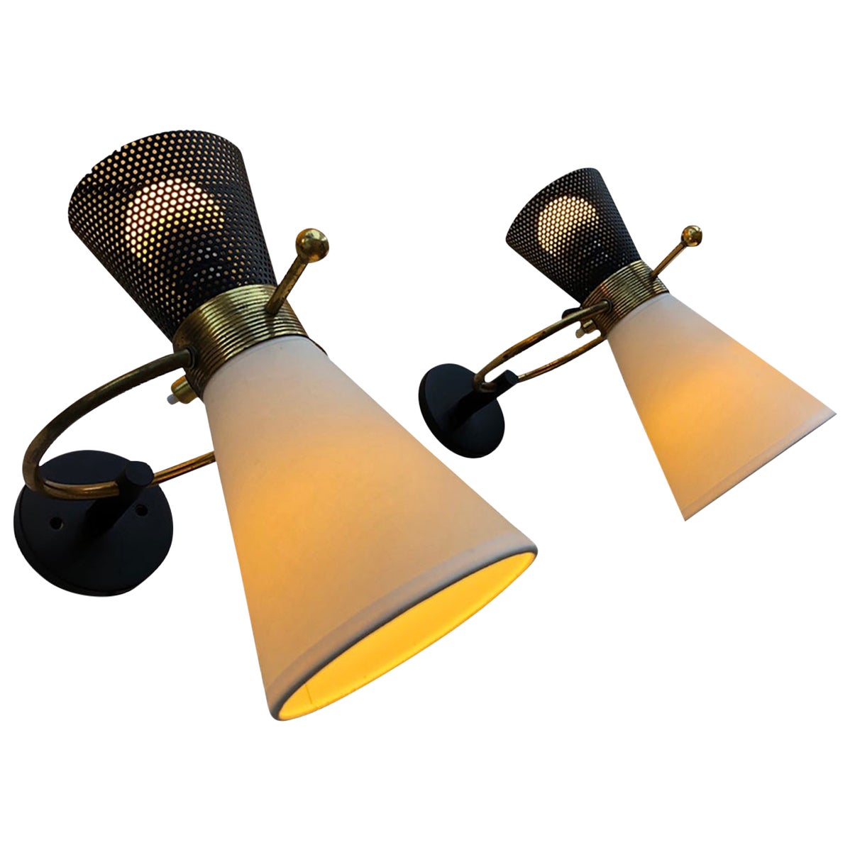 Pair of Sconces by Maison Arlus, 1950