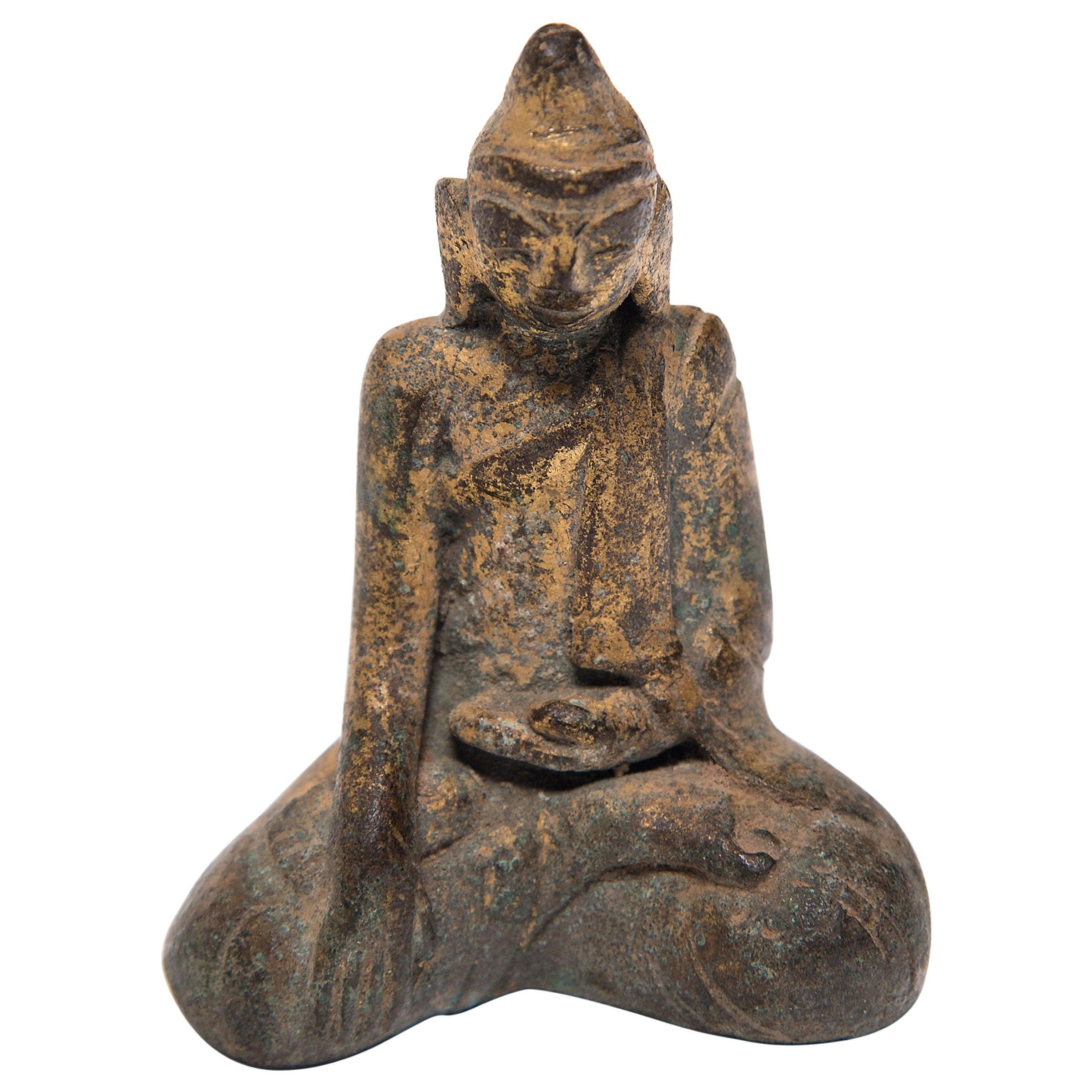 Thai Gilt Bronze Seated Buddha, circa 1850