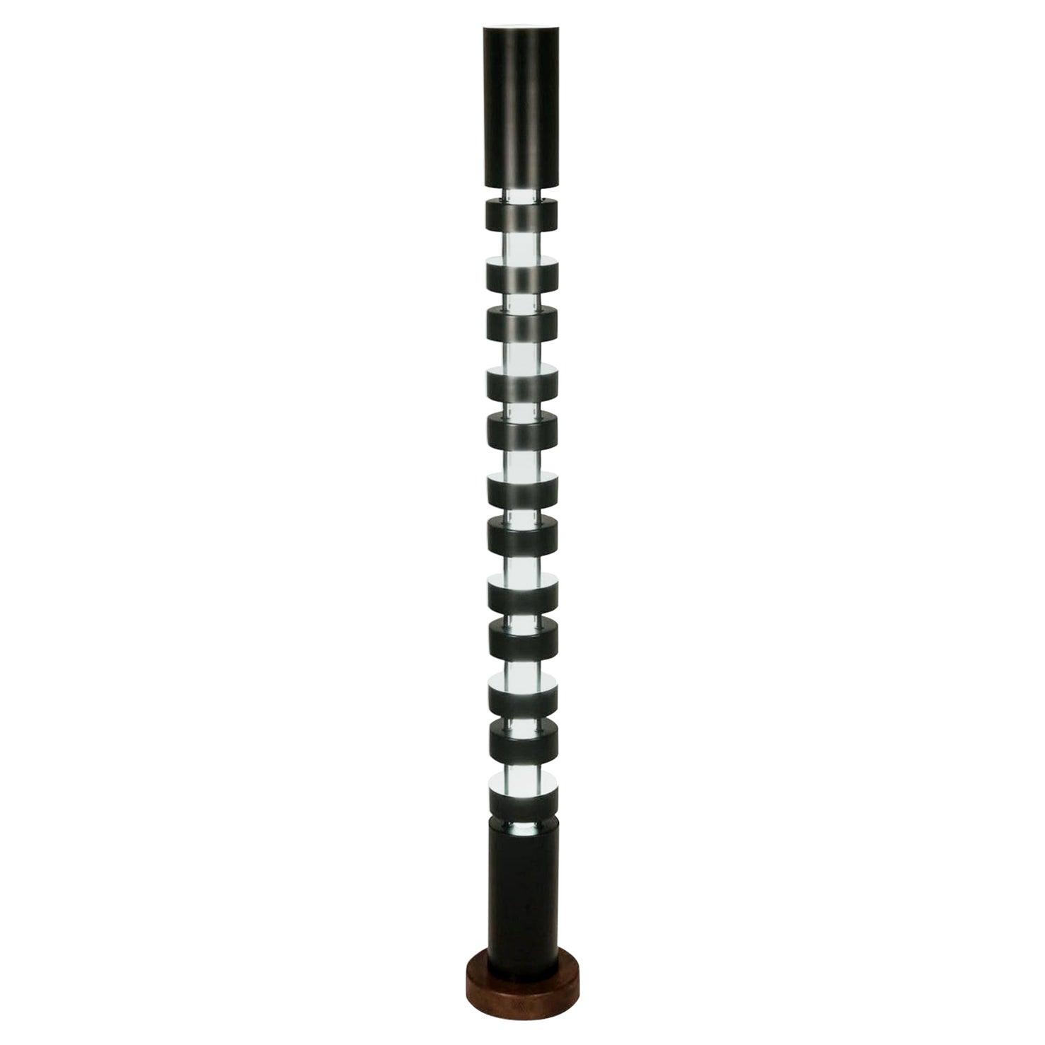 Serge Mouille Large TOTEM Column Floor Lamp