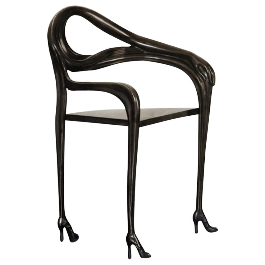 Salvador Dali Surrealist Leda Armchair Sculpture Black Label Limited Edition