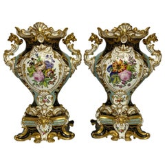 Pair of French Porcelain Vases, Probably Jacob Petit, circa 1840