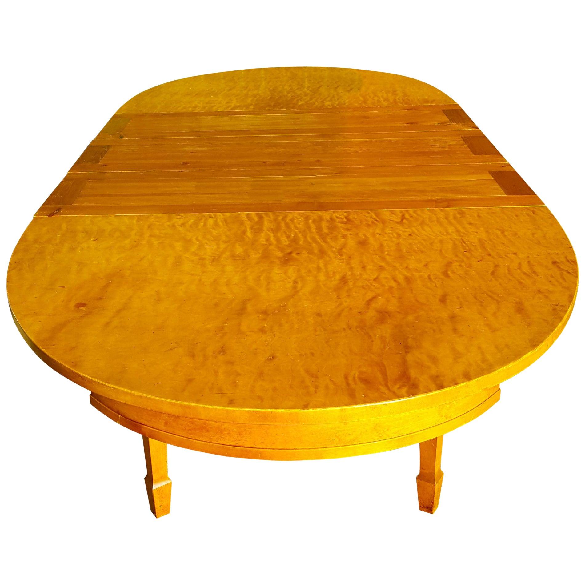 Biedermeier Swedish Extendable Dining Table, Early 20th Century, Art Deco