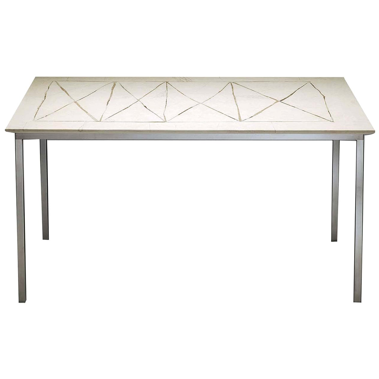 Table with Diamond-Shaped Motif
