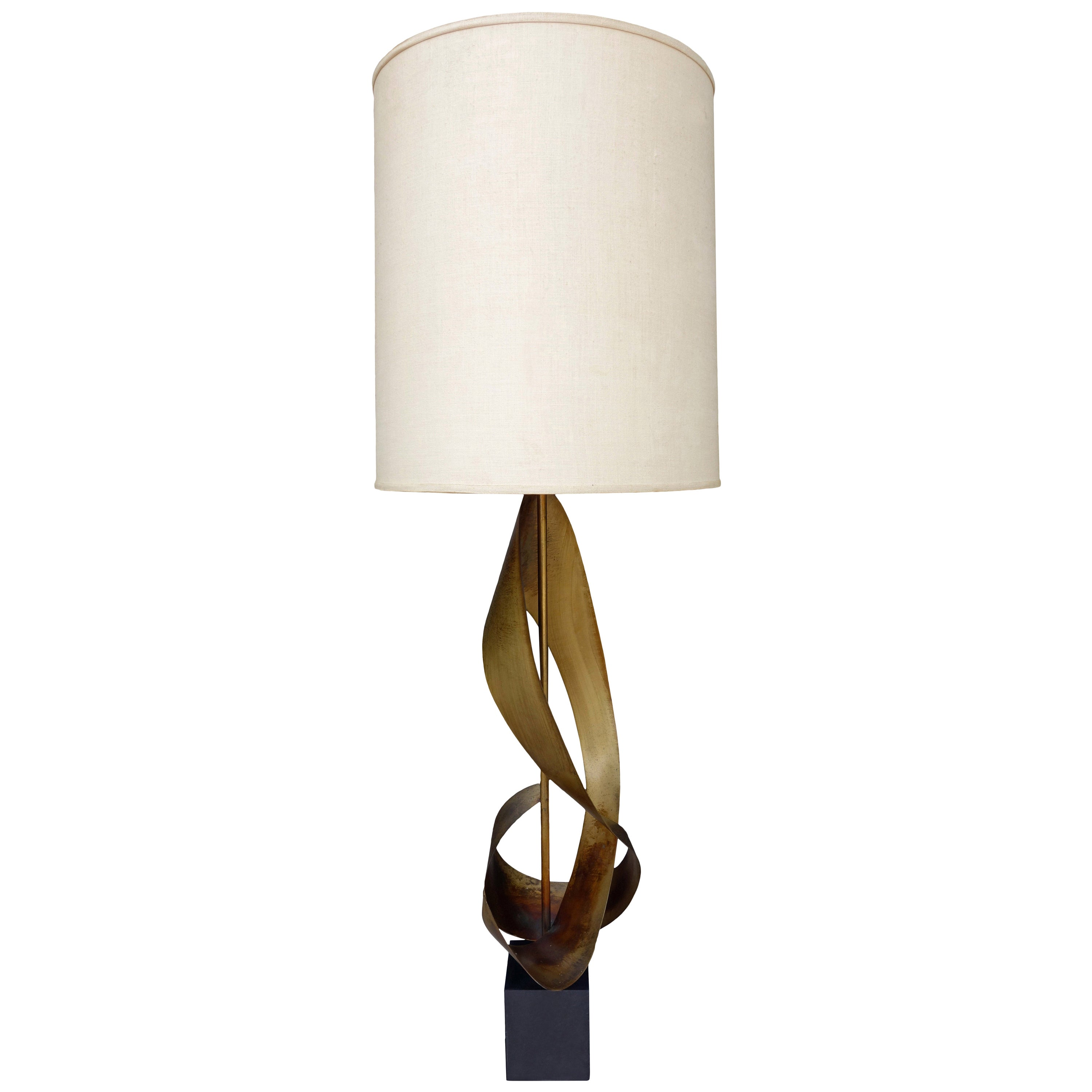 Midcentury Harry Balmer Sculptural Ribbon Lamp for Laurel
