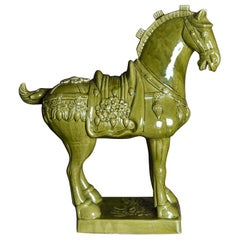 Tang Dynasty Style Ceramic Horse, Green