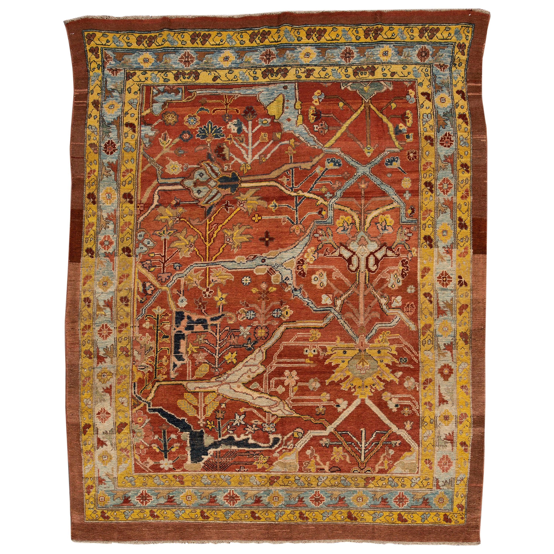 Vintage Persian Tribal Bakshaish Wool Rug