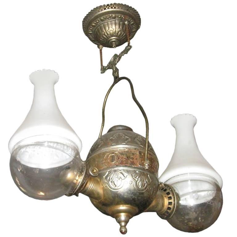 Oil Lamp by the Anglelamp Co.of N.Y. For Sale