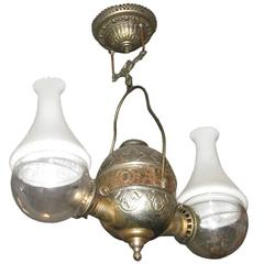 Oil Lamp by the Anglelamp Co.of N.Y.