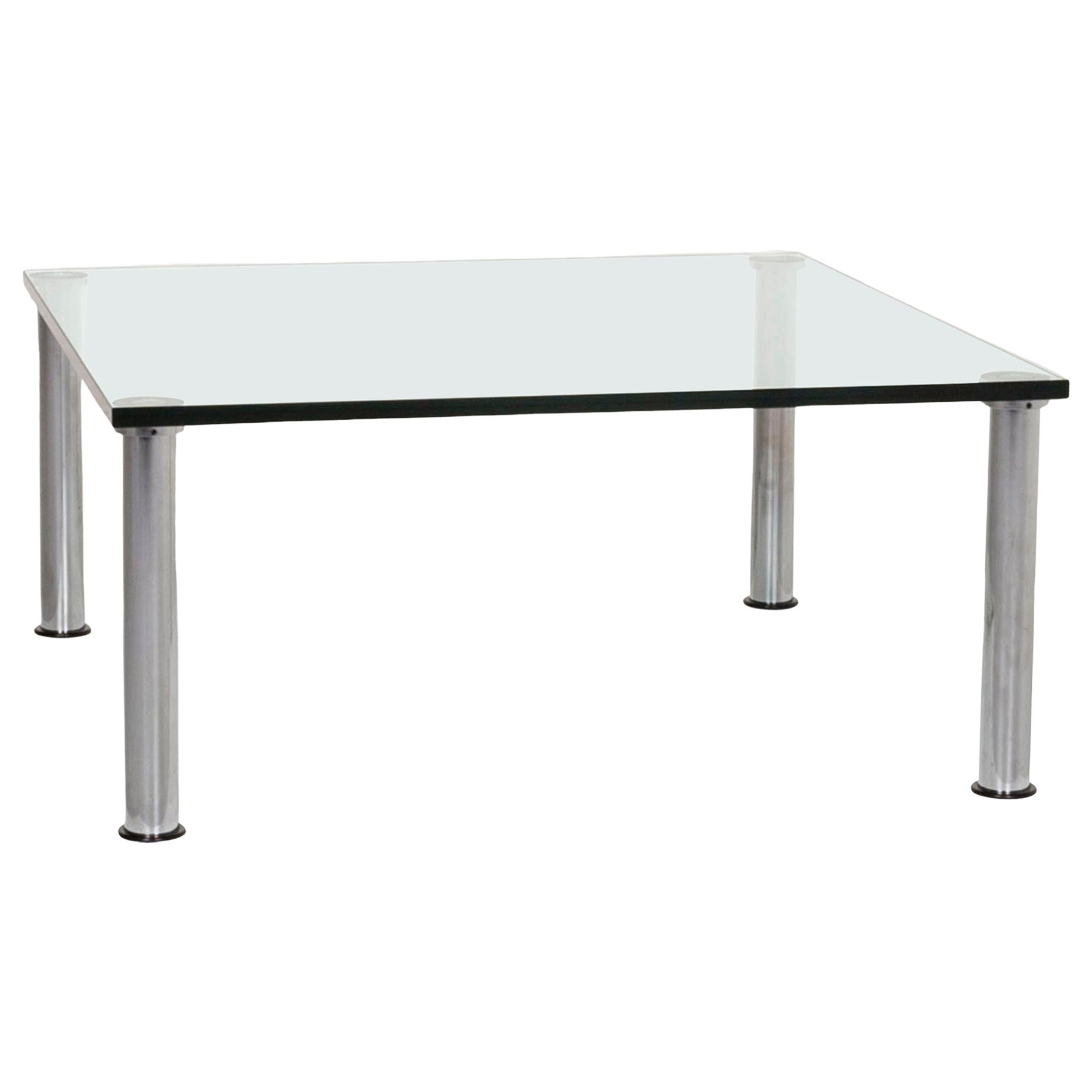 Ronald Schmitt Glass Coffee Table Silver