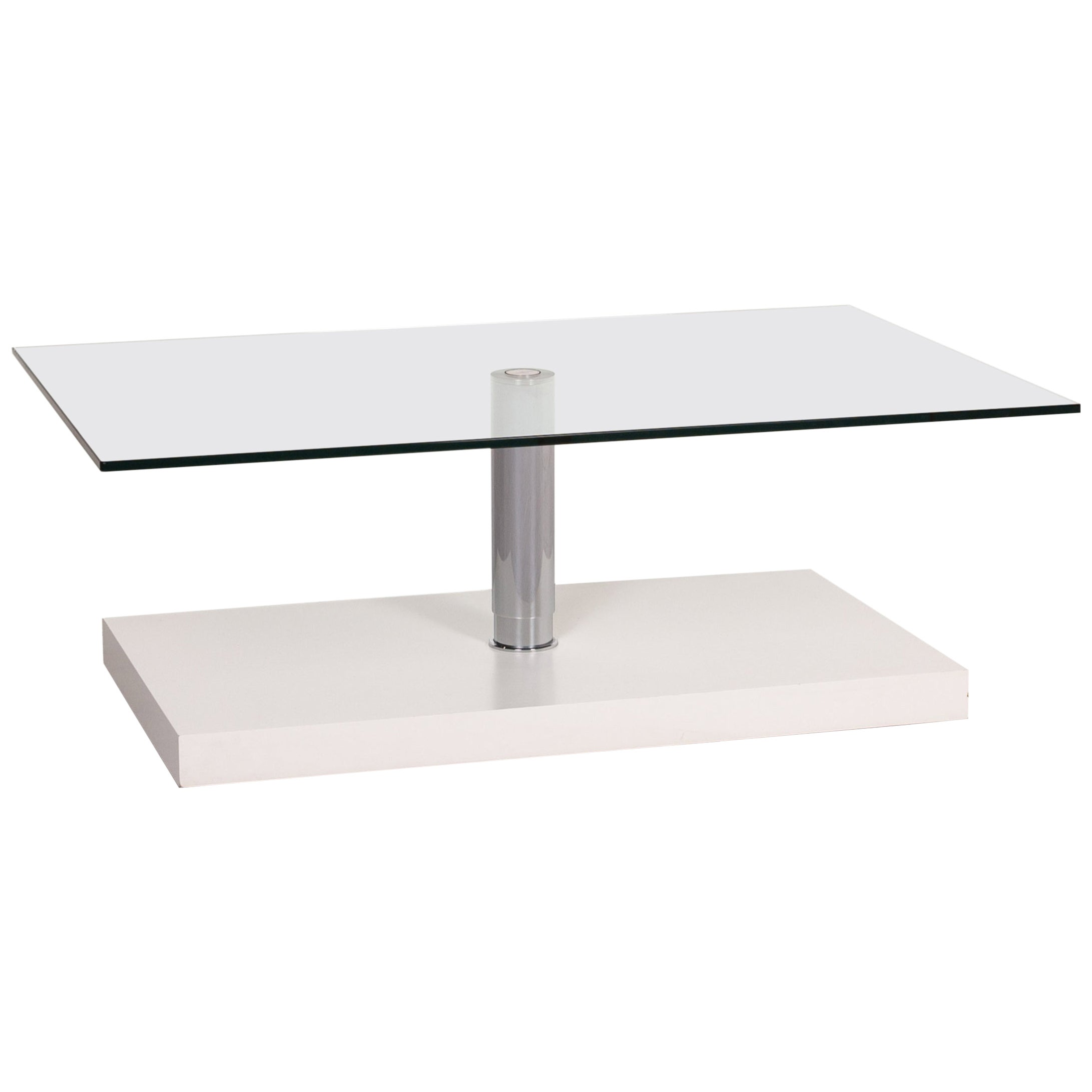 Ronald Schmitt K 436 Glass Coffee Table White Table