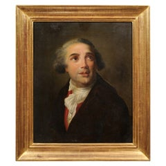 Giltwood Framed Oil on Canvas Portrait of a Gentleman, 19th Century