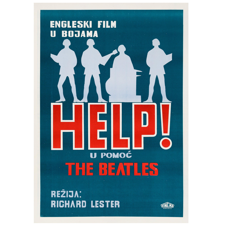 The Beatles 'Help!' Original Vintage Movie Poster, Yugoslavian, 1966