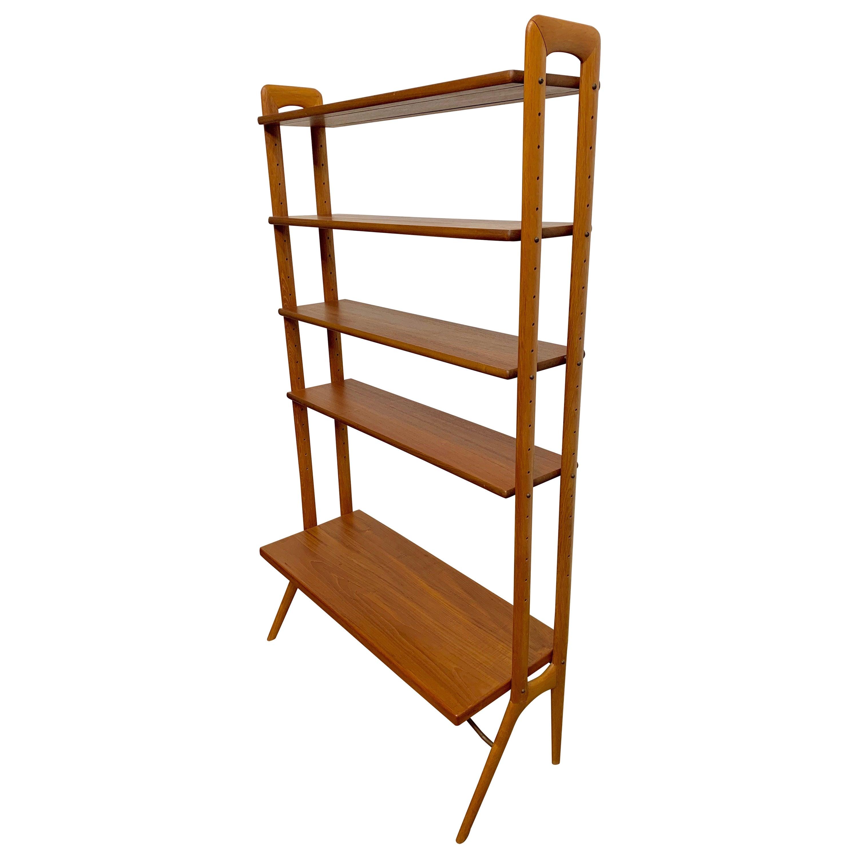 Kurt Ostervig Danish Teak Adjustable Bookshelf and Room Divider