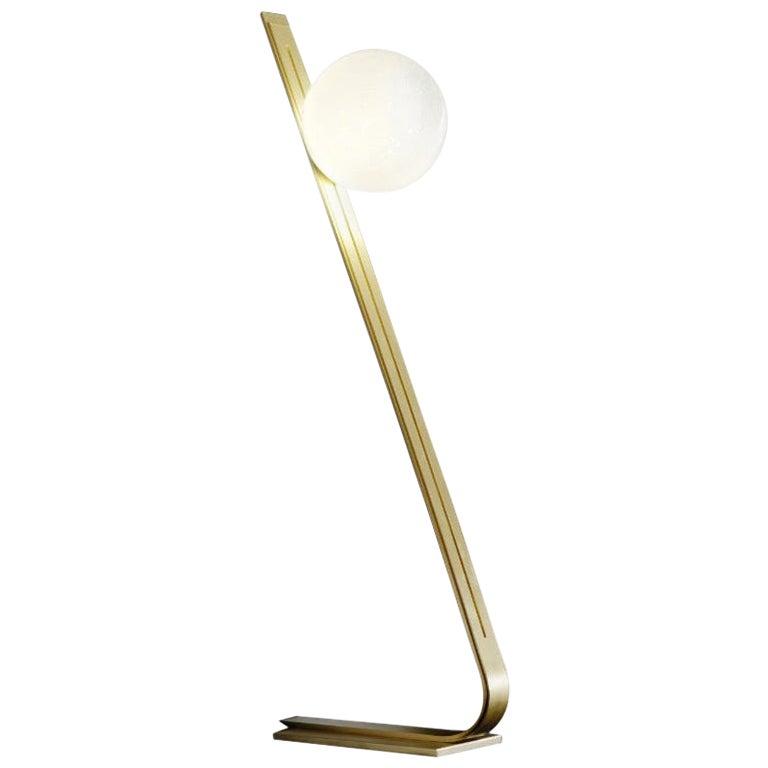 Daphne Brass Italian Floor Lamp by Esperia