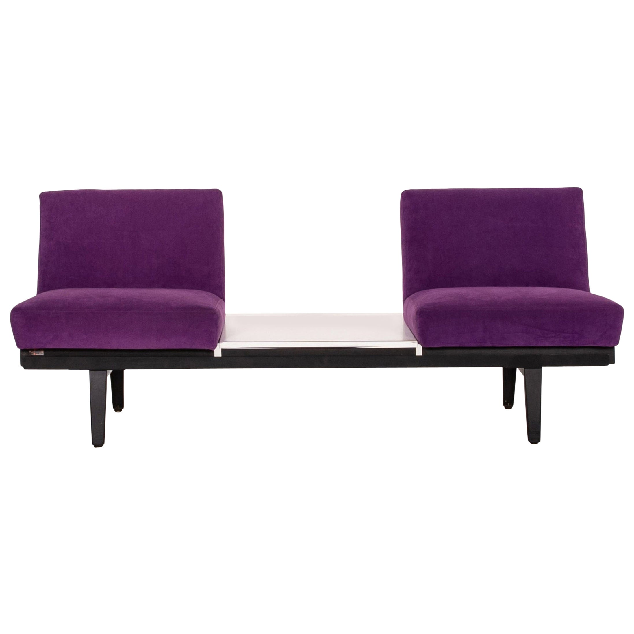 Herman Miller Fabric Sofa Purple Two-Seat Couch