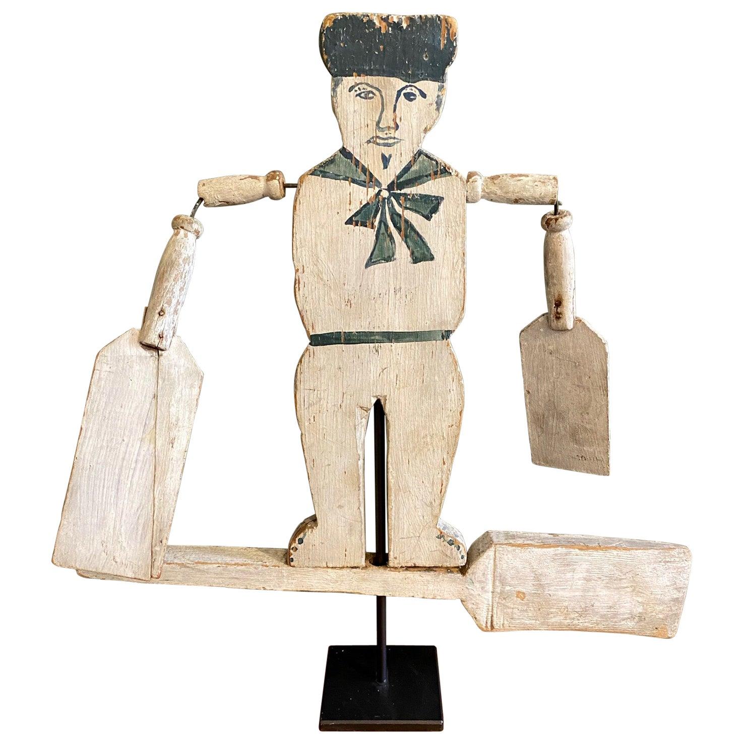 Folk Art Sailor Boy Whirligig, circa 1900