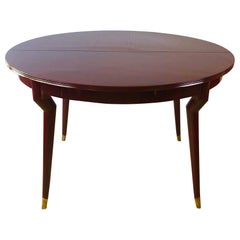 Rare Extendable Italian Dining Table Attributed to Gio Ponti