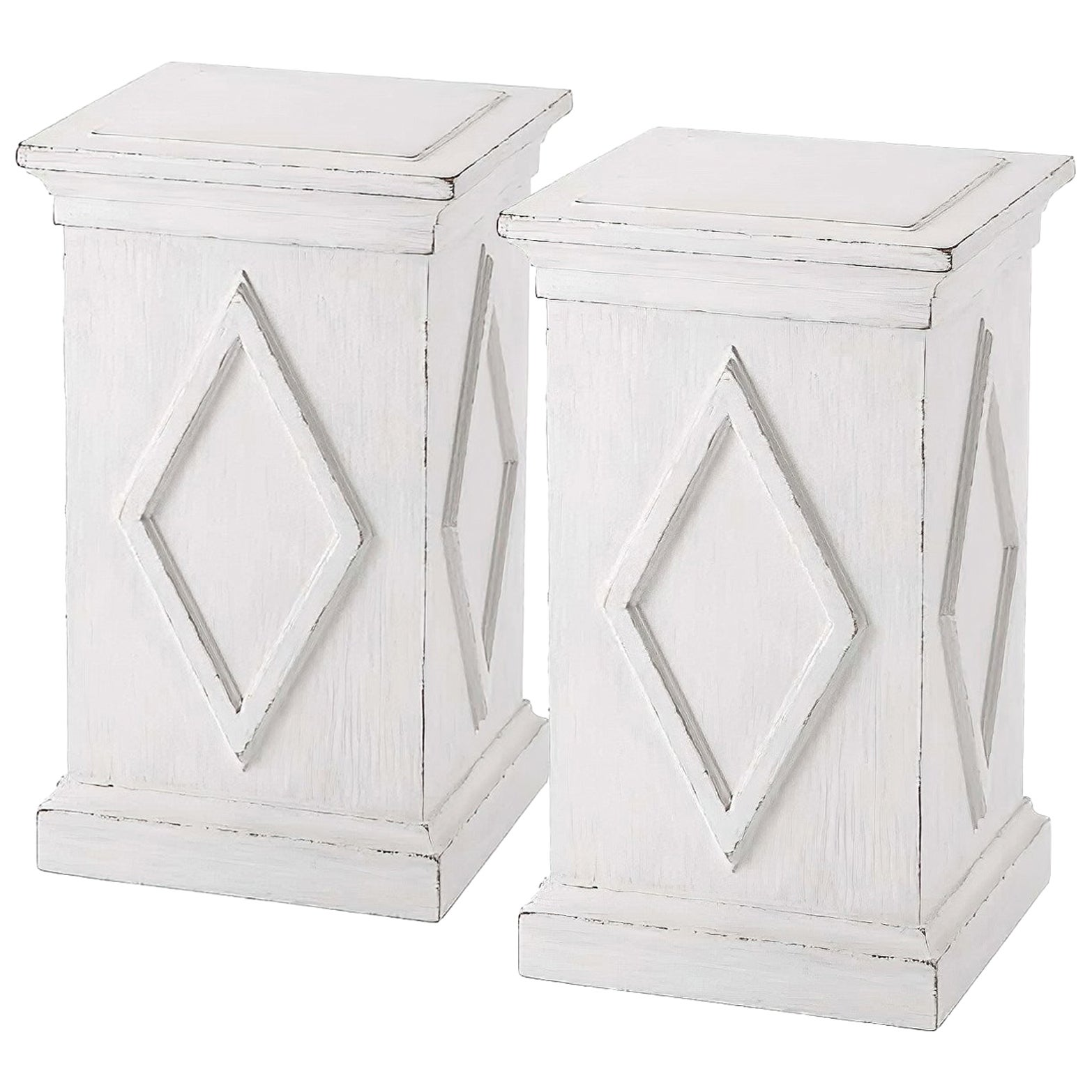 Pair of French Directoire Style Painted Pedestals