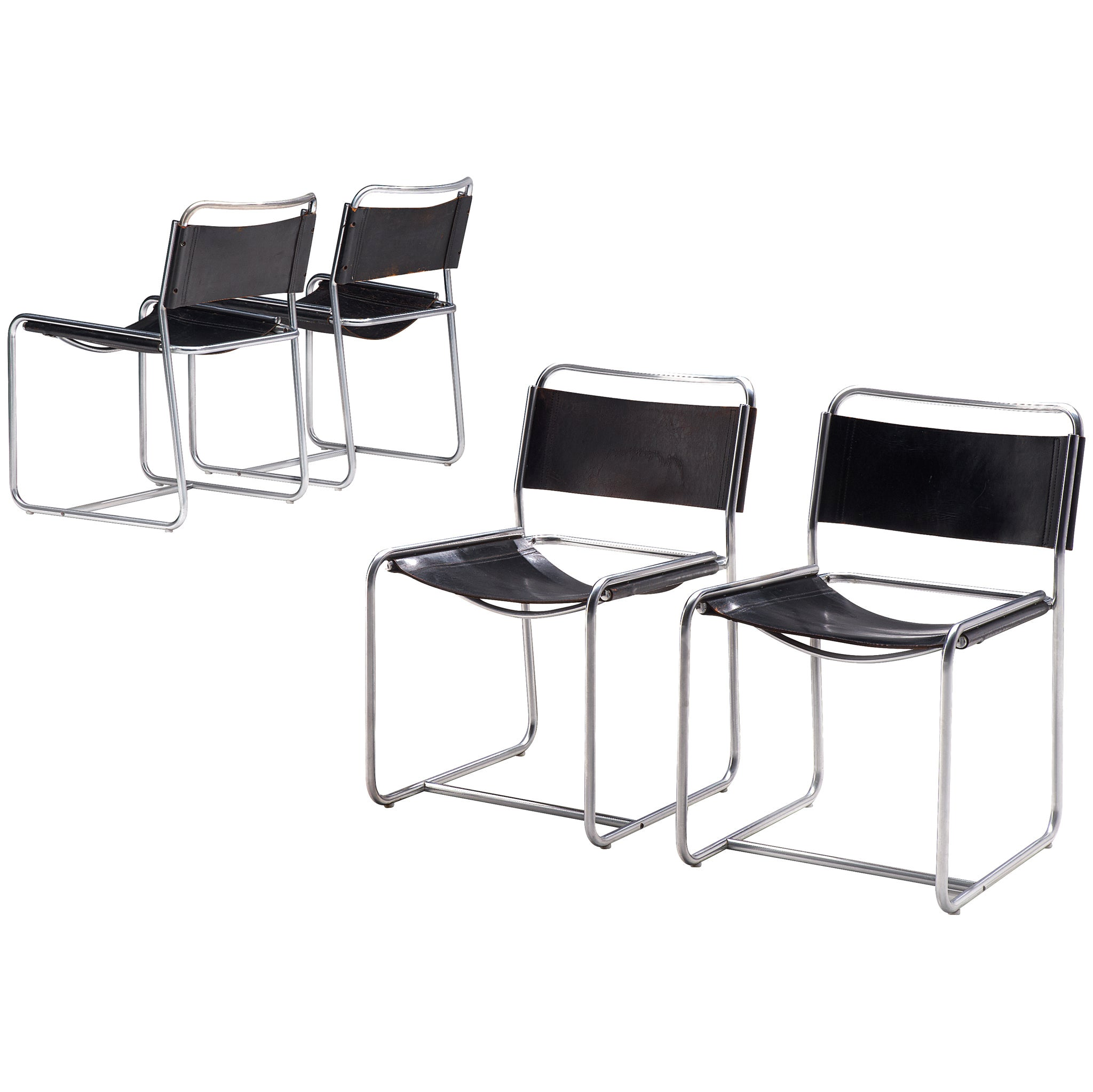 Set of Four Tubular Chairs by 't Spectrum