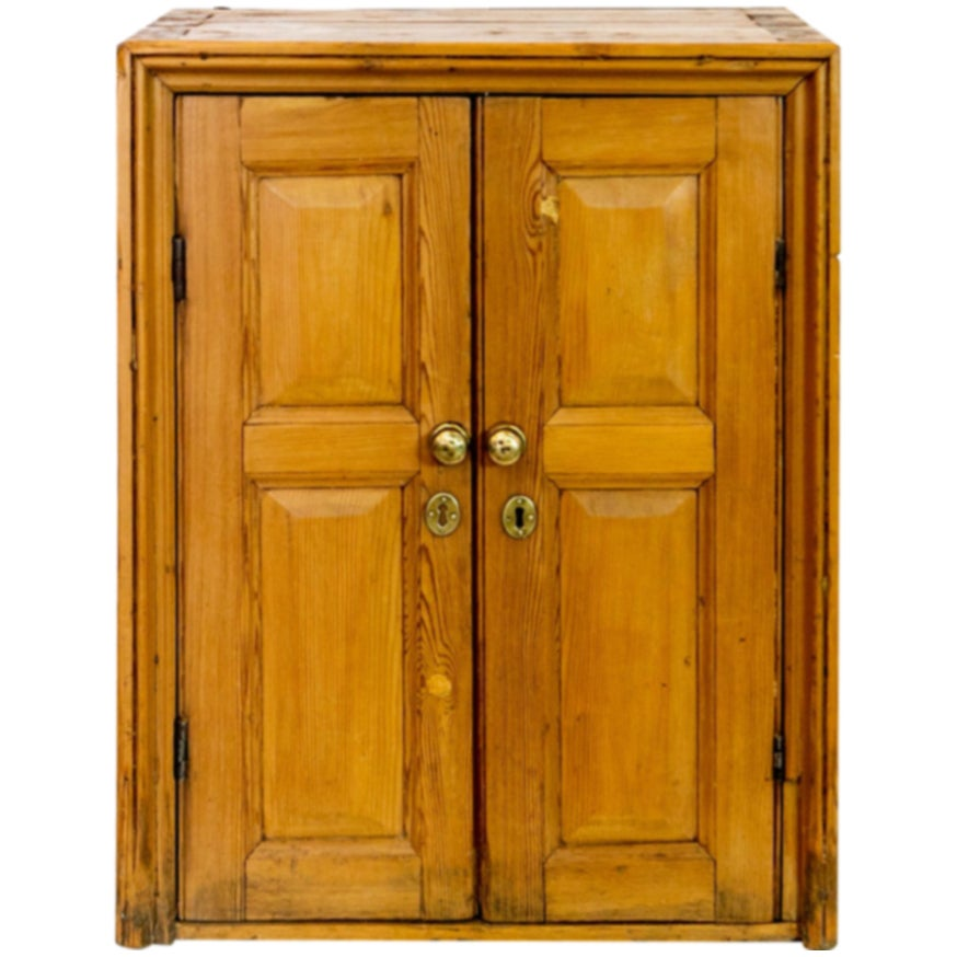 English Pine Double Door Cupboard