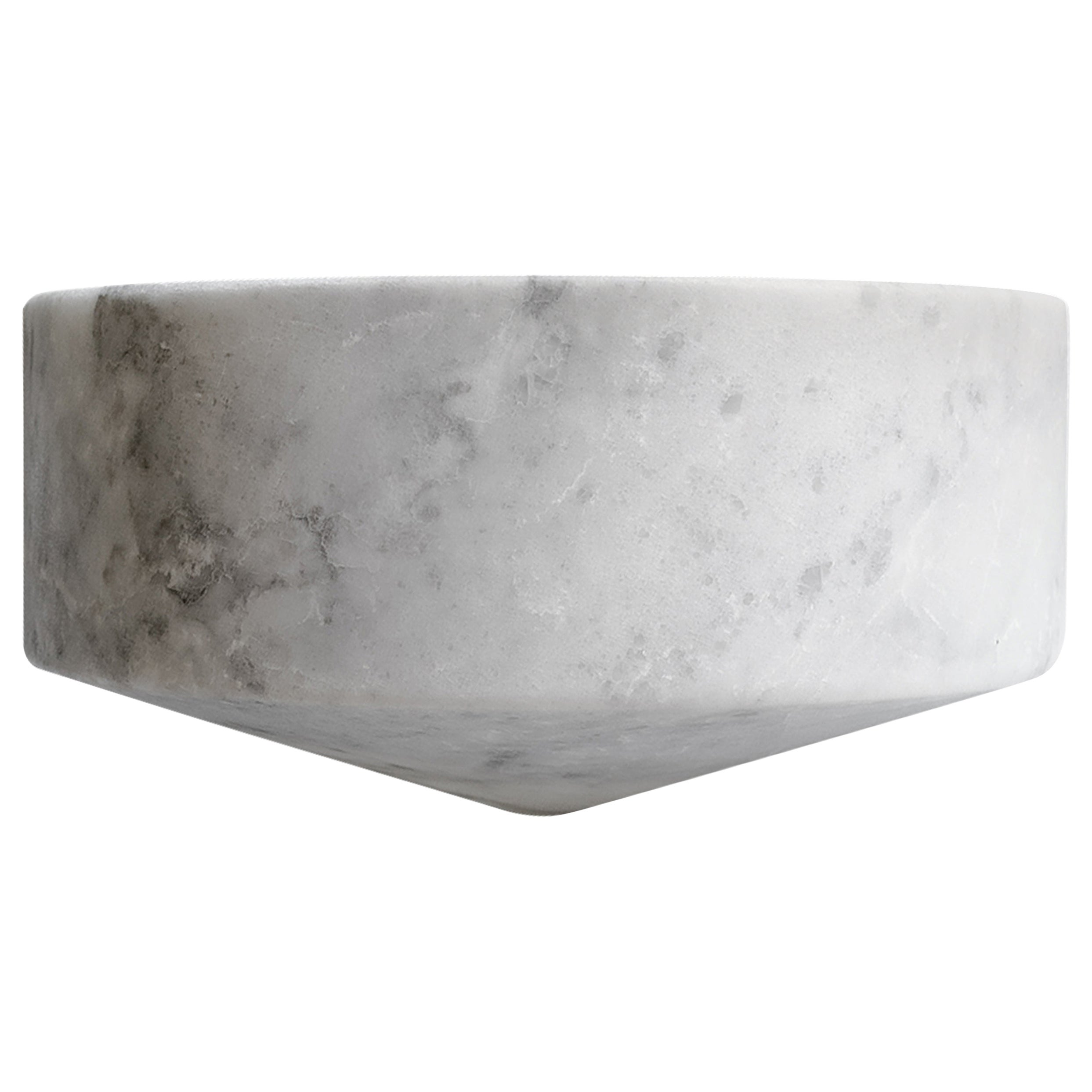 Talayot White Marble Carved Small Bowl