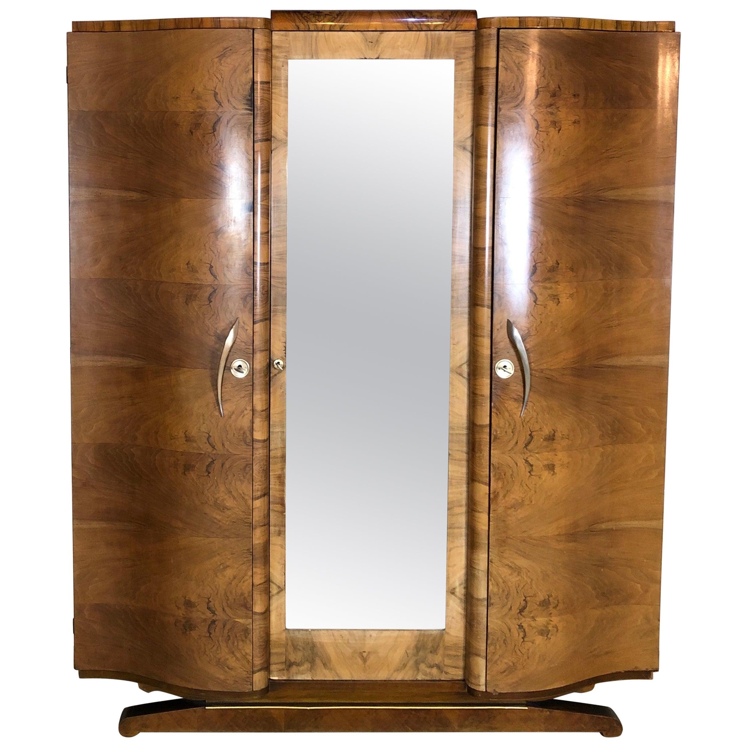 French Art Deco Armoire or Wardrobe