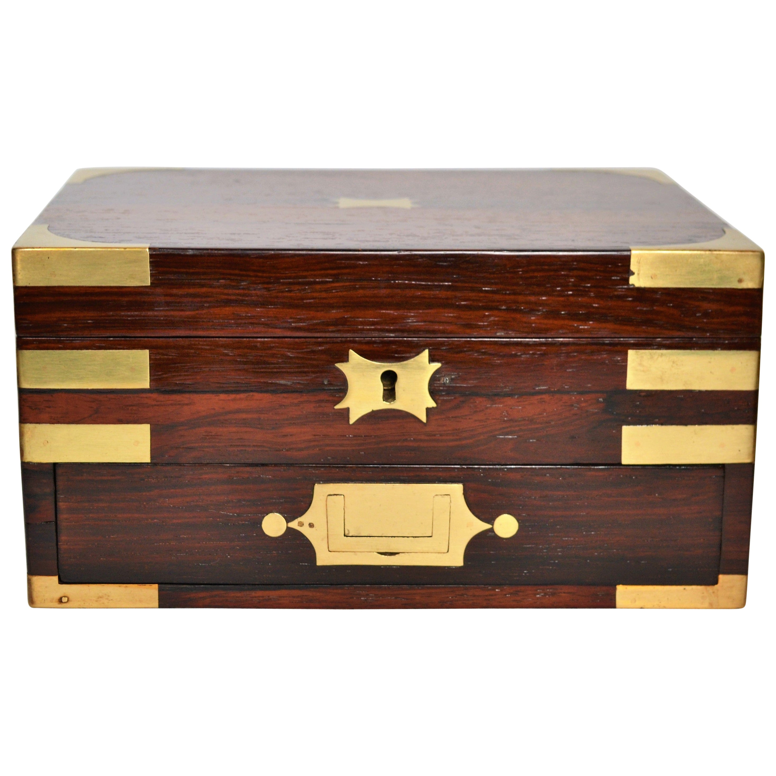 Antique English Rosewood Jewel Box, circa 1860
