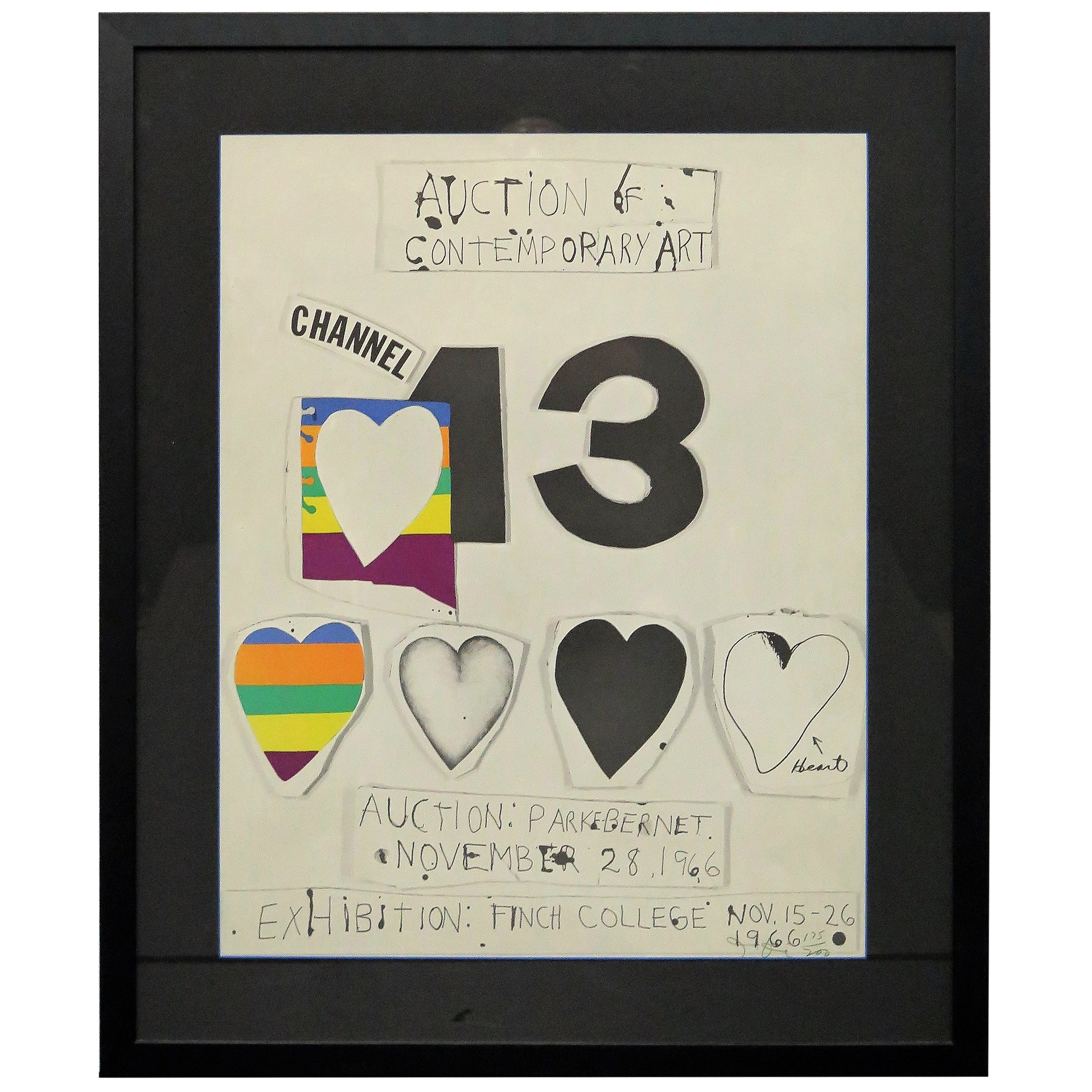 """""""I Love Public Television"""" 'for Channel 13' by Jim Dine"""