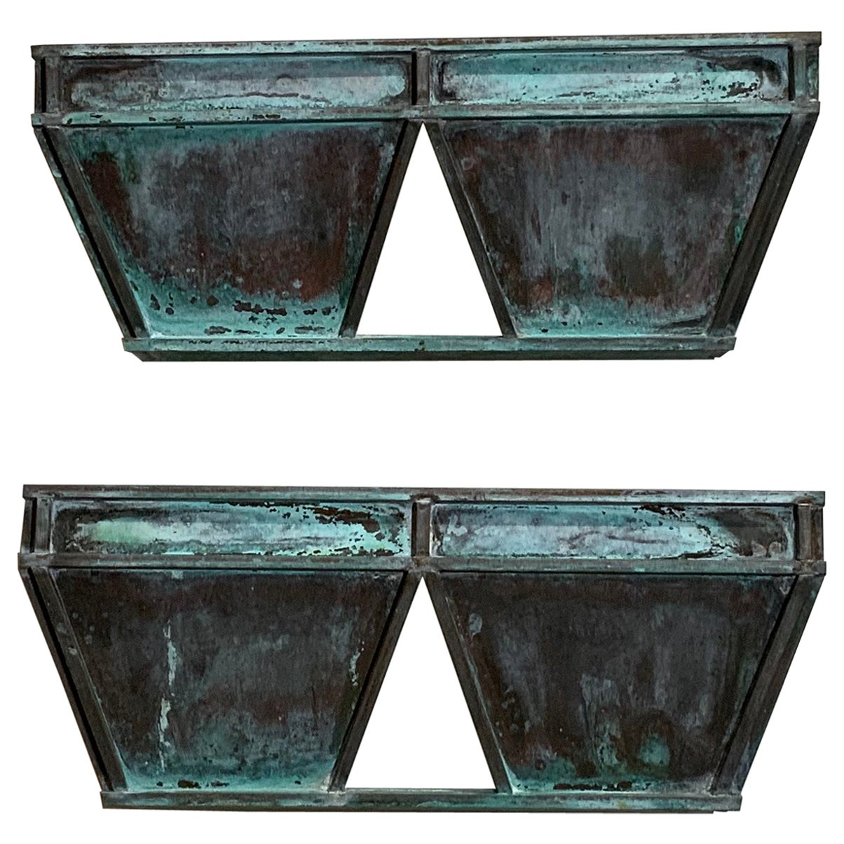 Pair of Midcentury Copper Wall Sconces