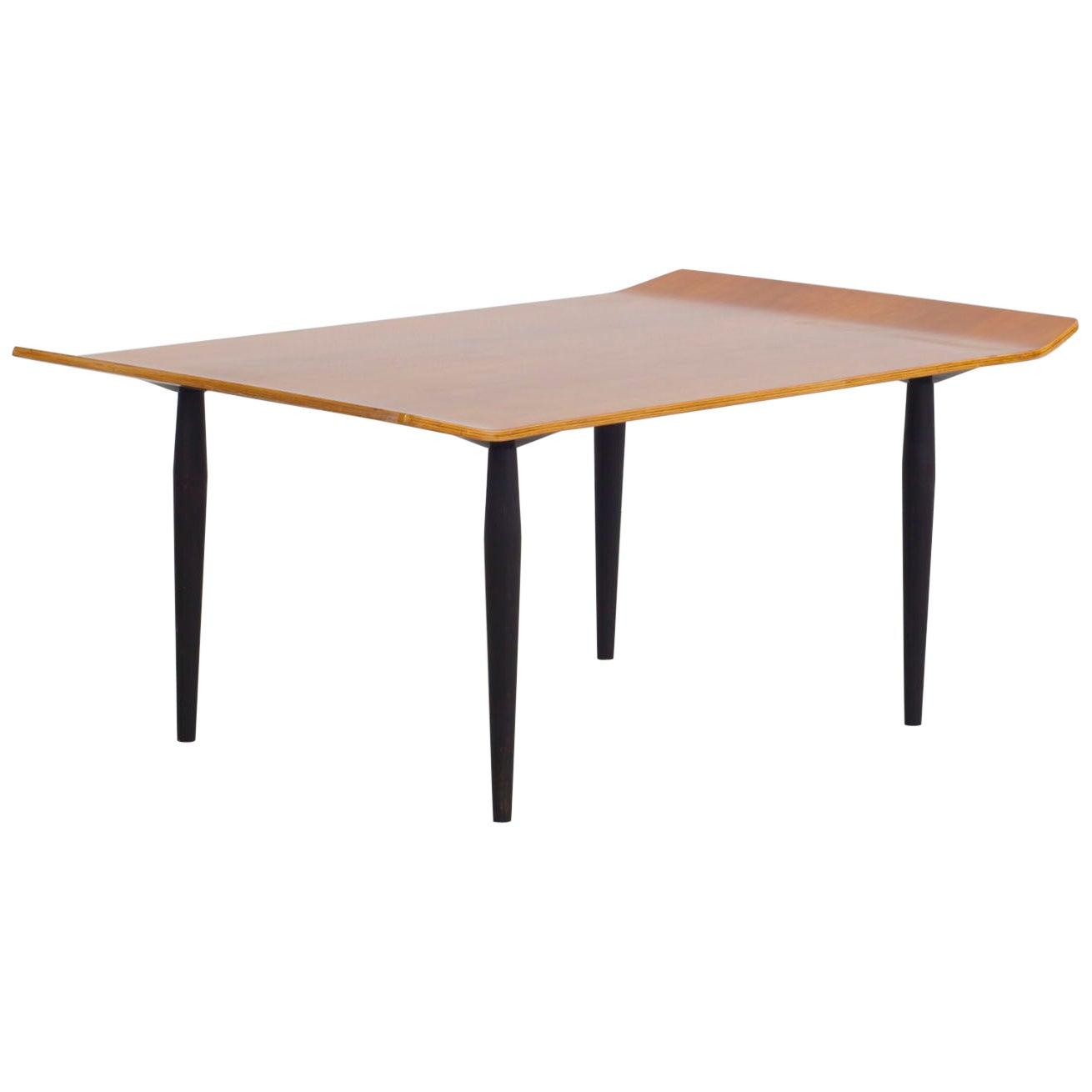 Eugenio Gerli & Osvaldo Borsani Mahogany Plywood Coffee Table, Tecno, Italy