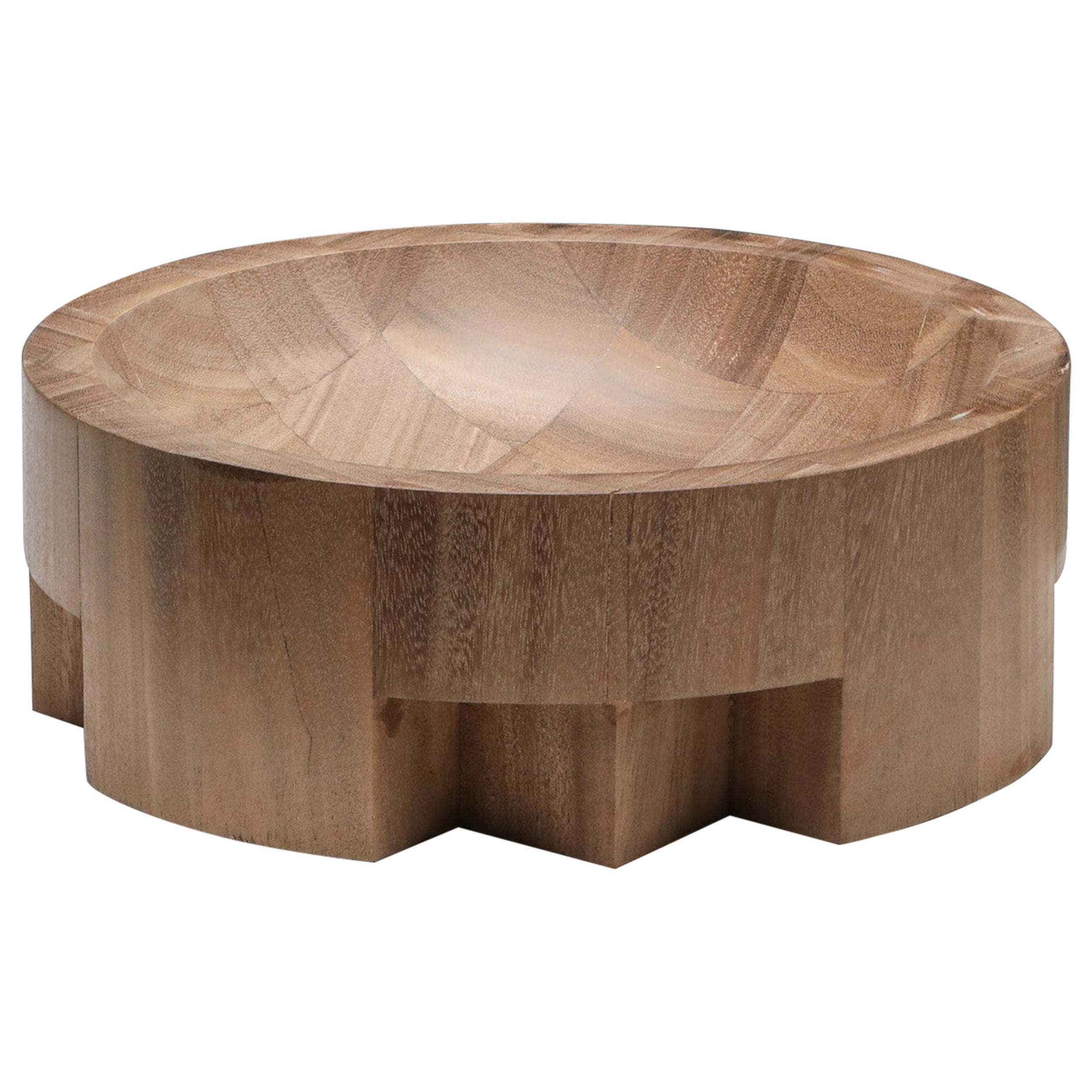 African Walnut Large Disk Tray Arno Declercq