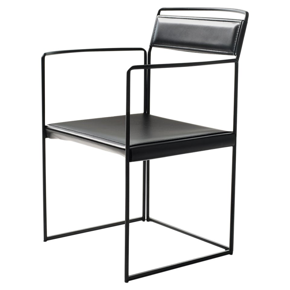 New Outline Small Armchair in Black