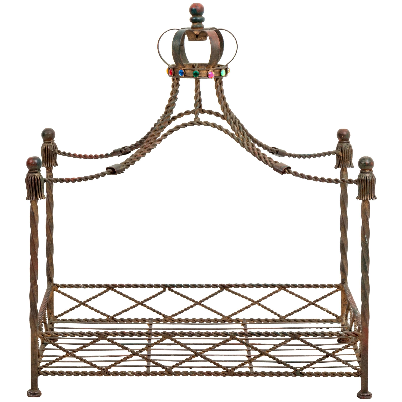 Italian Iron Dog Bed