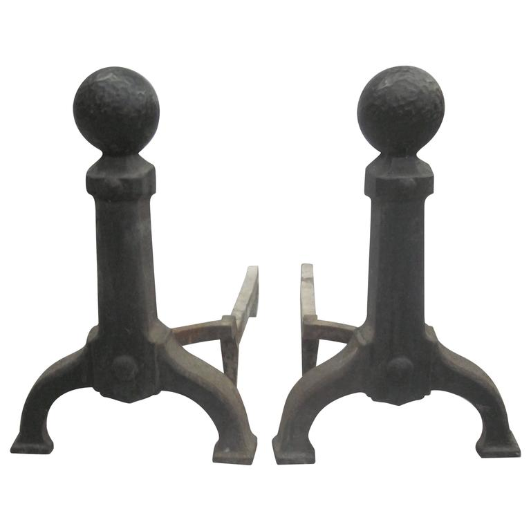 Pair of French, 1930s, Andirons