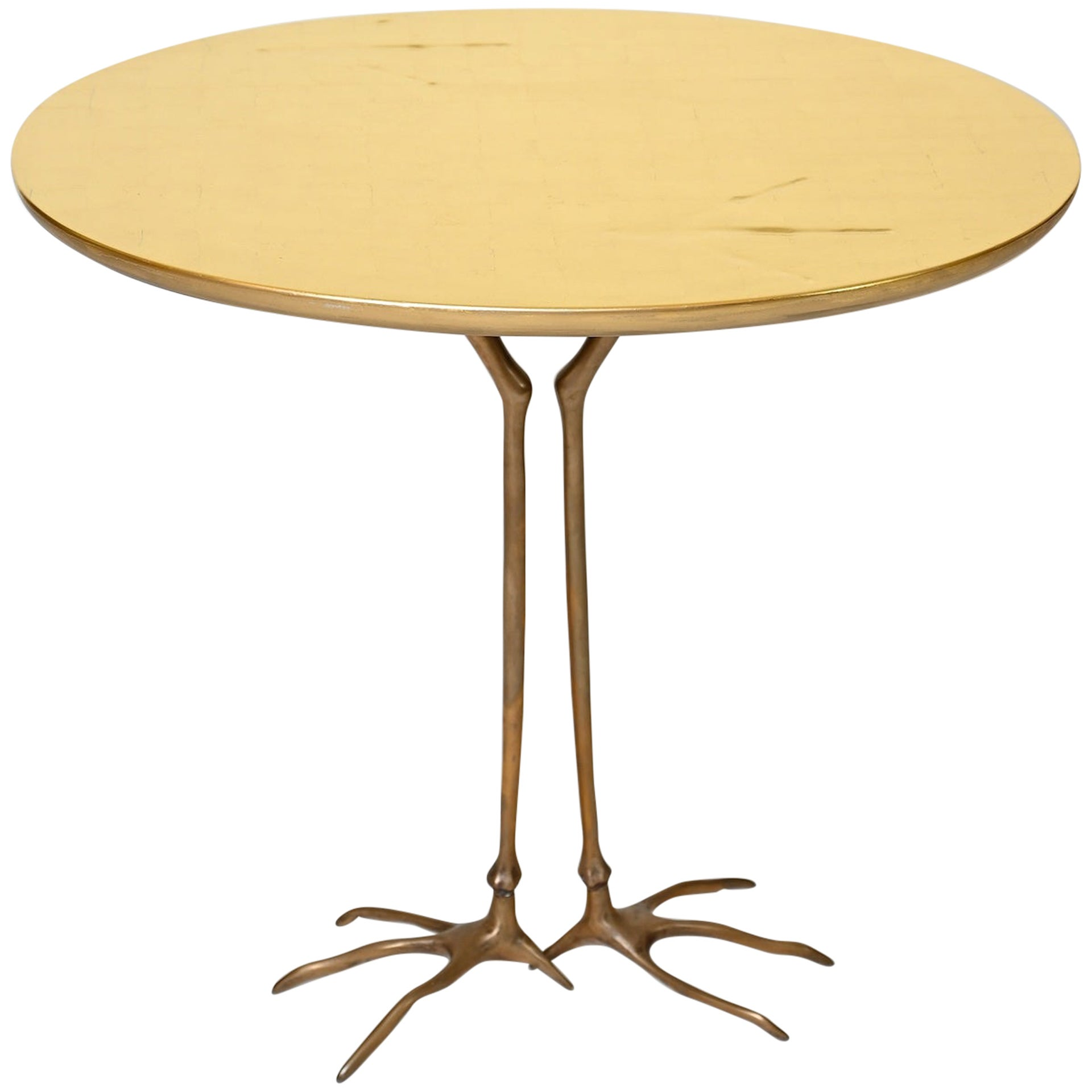 Gold Leaf 'Traccia' Table by Meret Oppenheim