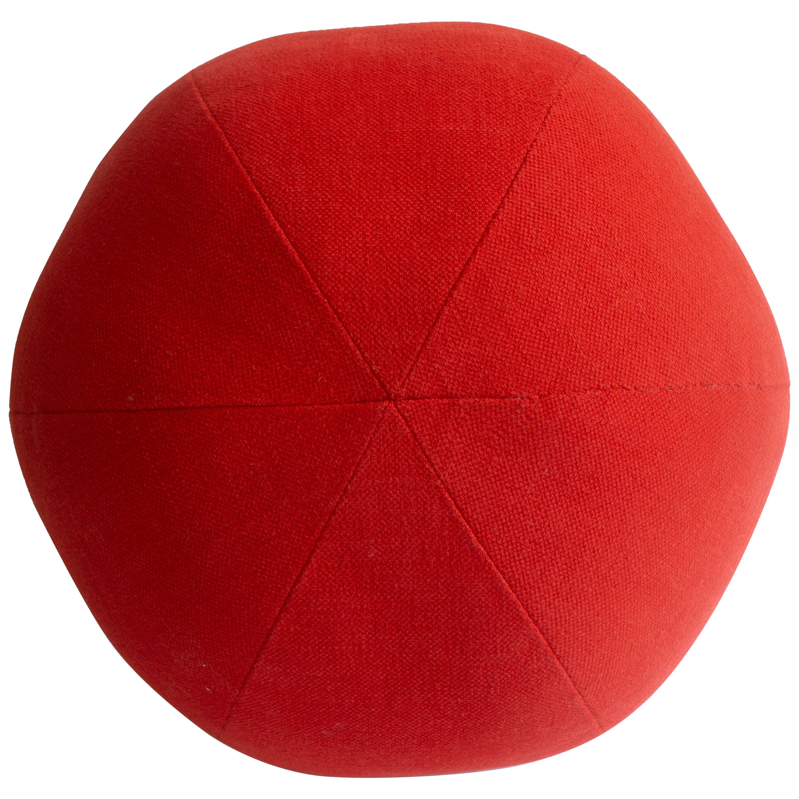 Bright Red Round Ball Throw Pillow