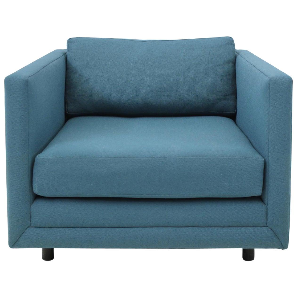 Harvey Probber Tuxedo Lounge Chair
