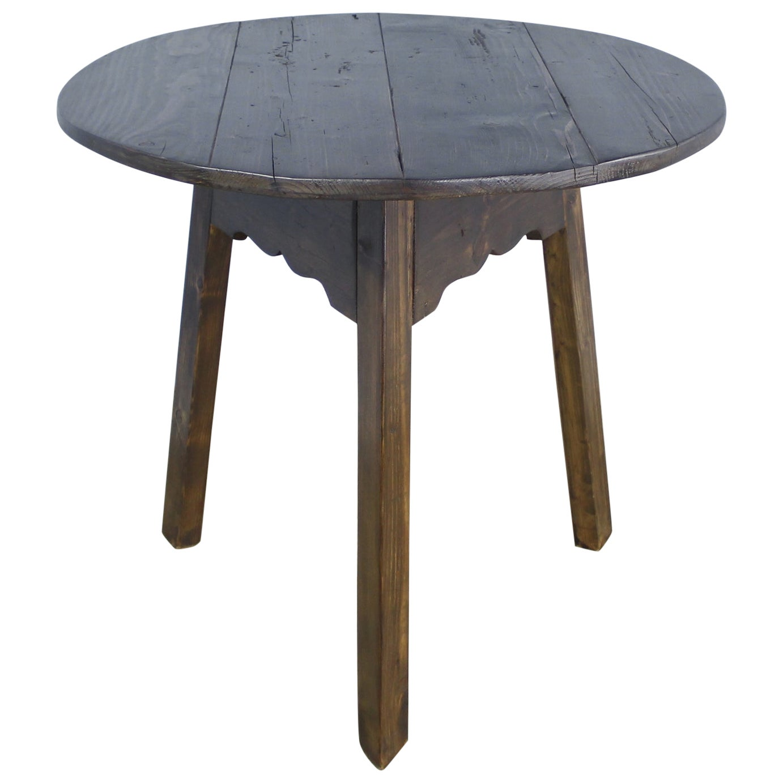 English Dark Pine Cricket Table